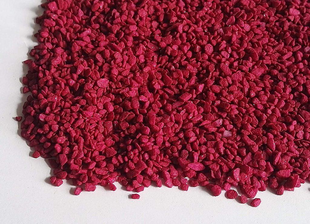 L'allestimento dell'acquario in casa: come scegliere il fondale - Sabbia in granuli colorata
